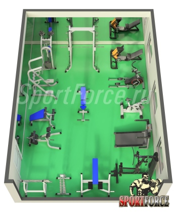 3D моделирование тренажерного зала