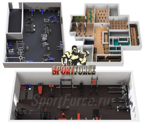3D моделирование спортивного зала